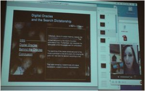 SCANZ 2009, image of Martha Gabriel presentation via Skype